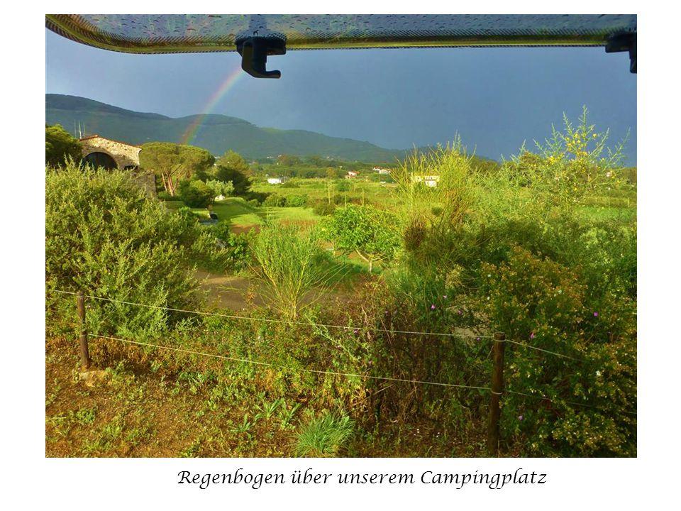 Regenbogen über unserem Campingplatz