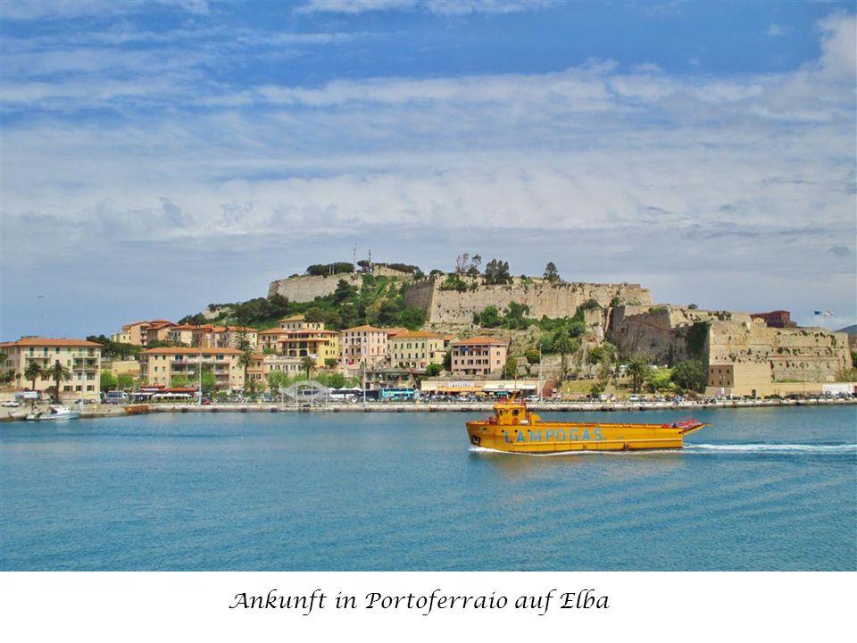 Ankunft in Portoferraio auf Elba