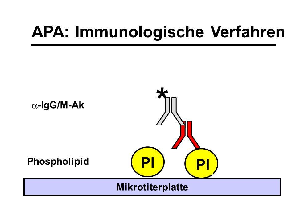 APA: Immunologische Verfahren Pl Phospholipid Mikrotiterplatte *  -IgG/M-Ak Pl