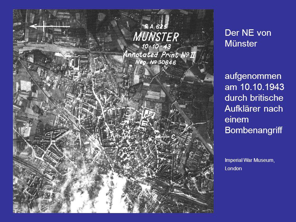 Der NE von Münster aufgenommen am 10.10.1943 durch britische Aufklärer nach einem Bombenangriff Imperial War Museum, London