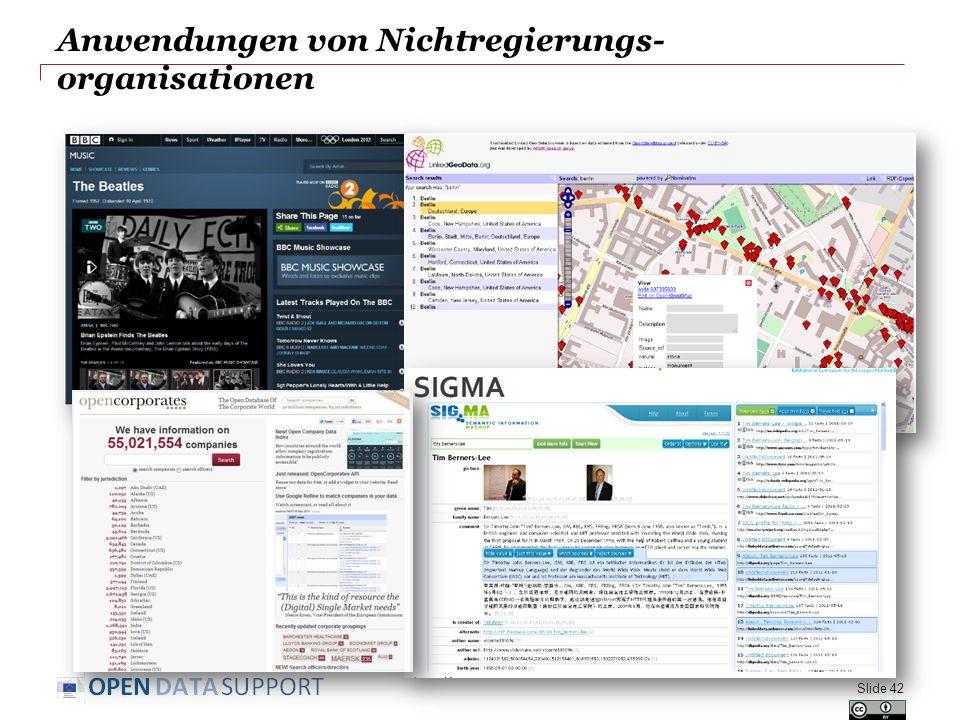 Anwendungen von Nichtregierungs- organisationen Slide 42