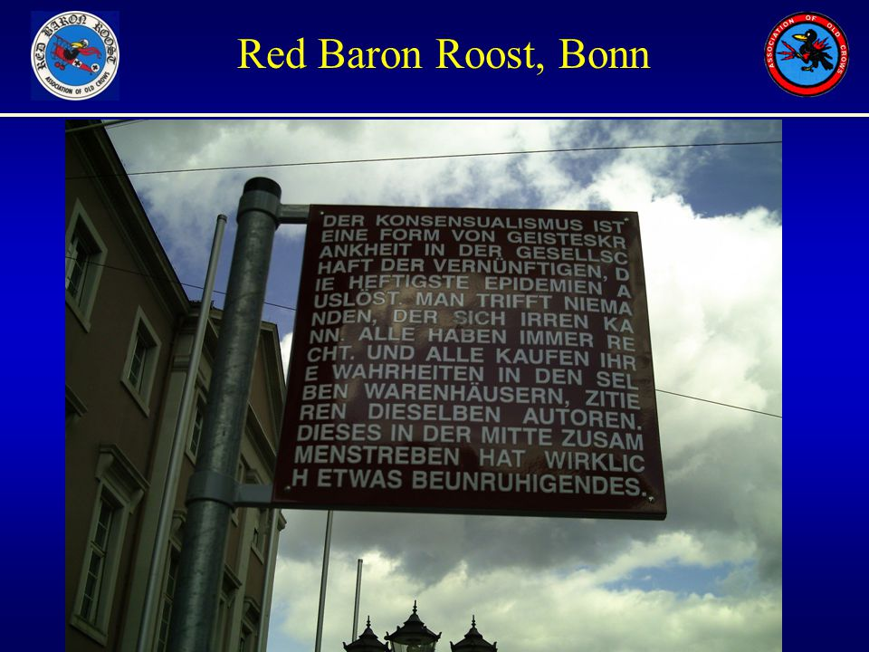 Unauthorized Views only Red Baron Roost, Bonn