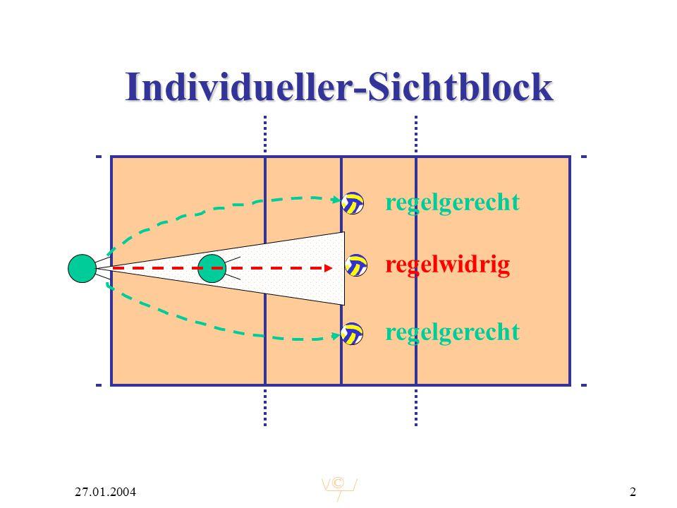 © 27.01.20042 Individueller-Sichtblock regelgerecht regelwidrig