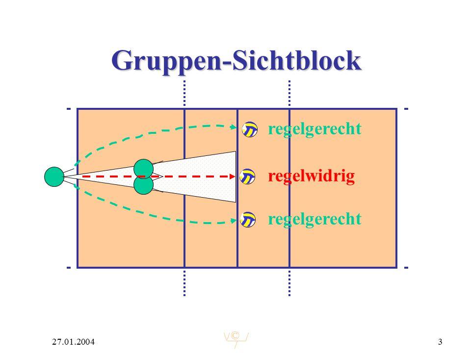 © 27.01.20043 Gruppen-Sichtblock regelgerecht regelwidrig