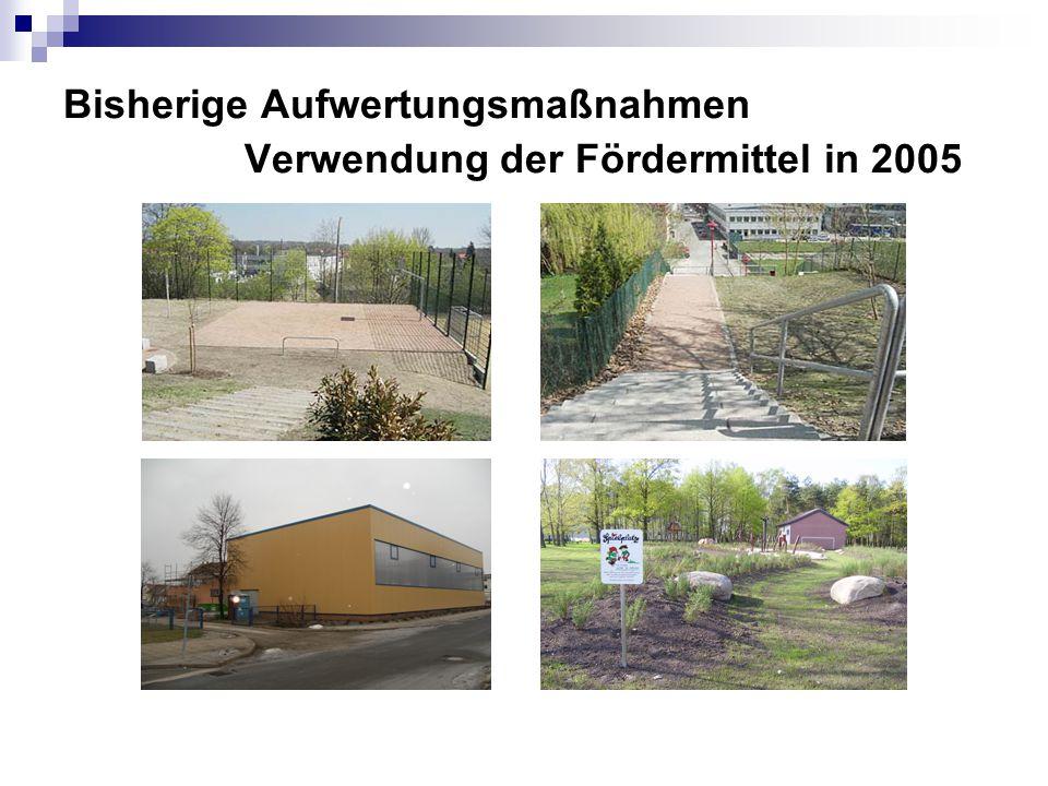 Bisherige Aufwertungsmaßnahmen Verwendung der Fördermittel in 2005