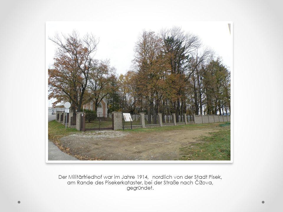 Militärfriedhof im Pisek Südböhmen oder Ein Ruhestand der Militärpersonen aus dem 1.Weltkrieg, der ersten Tschechoslowakischen Republik, und auch aus