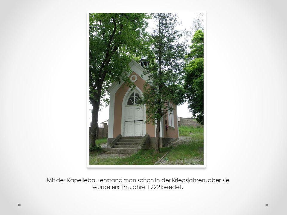 Letztes Mahnmal ist das Denkmal des K.k. Schützenregiment Pisek Nr. 28 (bis zum Jahre 1917 als Landwehrinfanterieregiment gennant), der hier aber erst