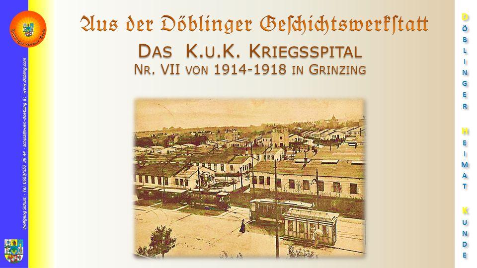 Wolfgang Schulz  Tel. 0650/357 39 44  schulz@wien-doebling.at  www.döbling.com D AS K.