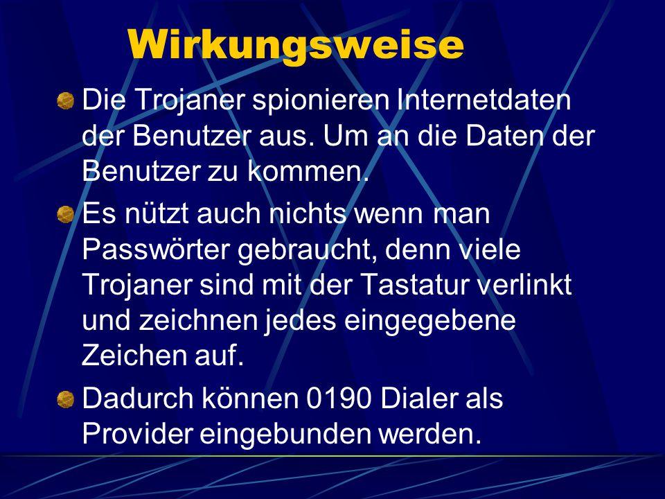 Befall von Trojaner vermeiden Man sollte immer während man im Internet ist ein Anti-Virenprogramm laufen lassen.