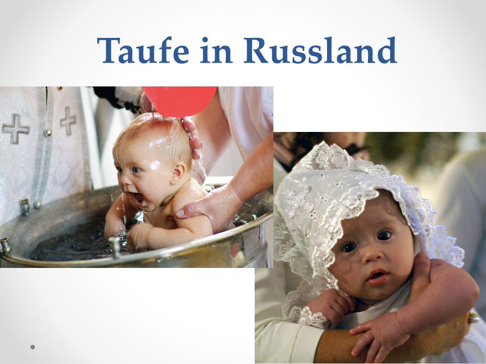 Die Taufe (Kreschtschenije) bedeutet die Aufnahme eines Menschen in den Schoß der christlichen Kirche.