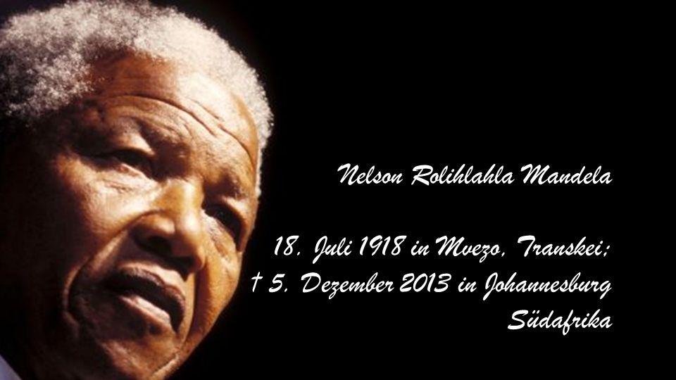 Nelson Mandela ehem. Staatspräsident Südafrika 1994