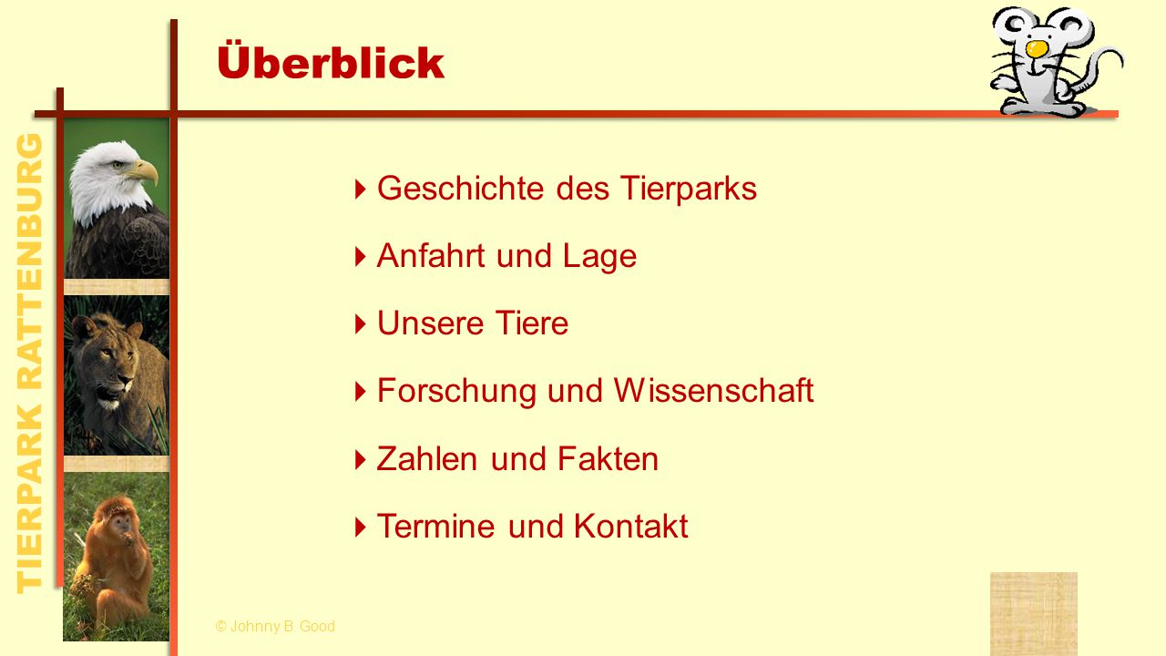 TIERPARK RATTENBURG Geschichte des Tierparks © Johnny B.