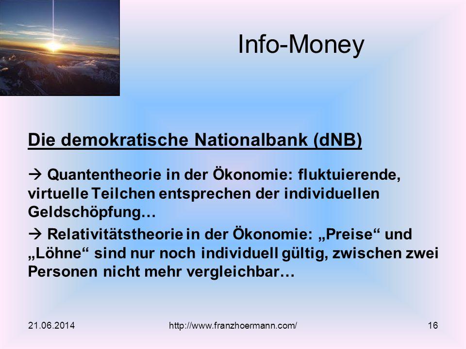 Die demokratische Nationalbank (dNB)  Quantentheorie in der Ökonomie: fluktuierende, virtuelle Teilchen entsprechen der individuellen Geldschöpfung…