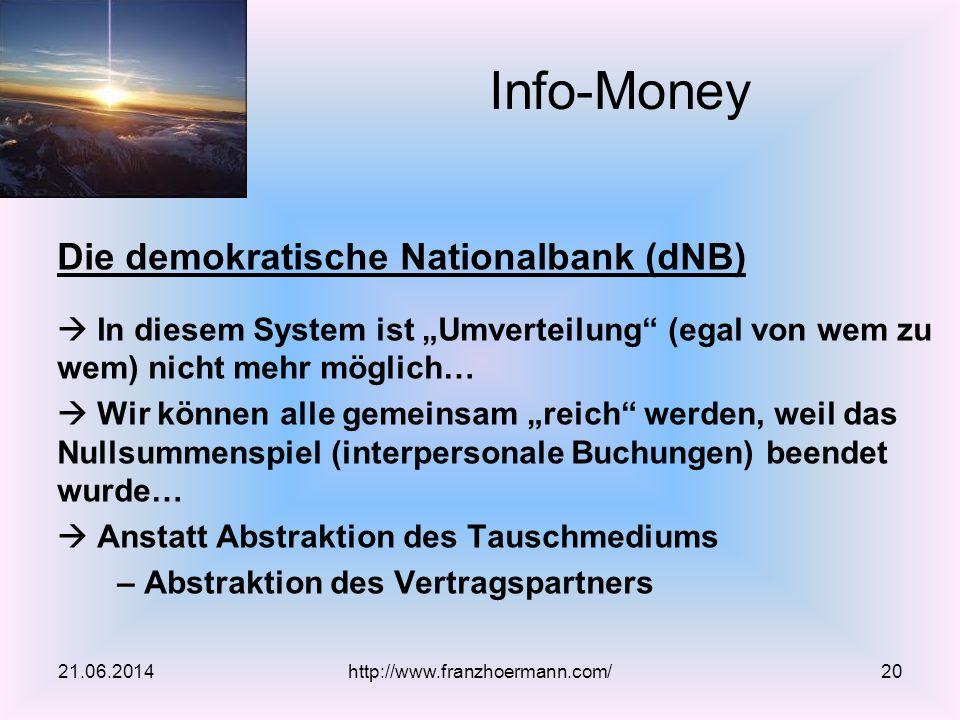 """Die demokratische Nationalbank (dNB)  In diesem System ist """"Umverteilung"""" (egal von wem zu wem) nicht mehr möglich…  Wir können alle gemeinsam """"reic"""