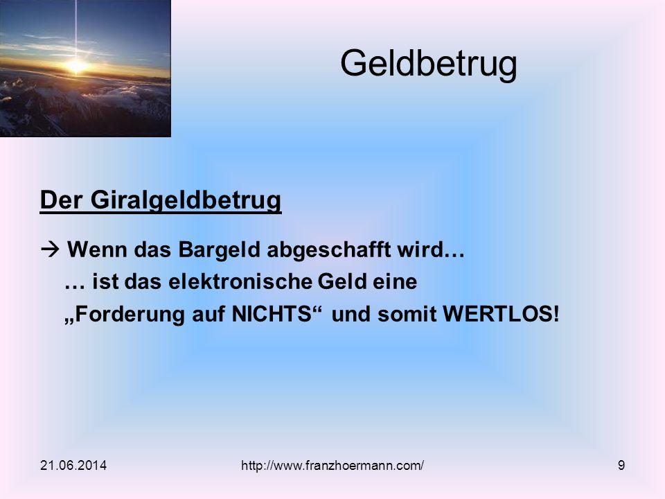 Herr, vergib ihnen, denn sie wissen nicht, was sie tun! 21.06.2014http://www.franzhoermann.com/10