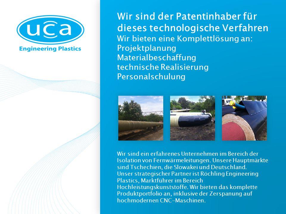 Wir sind der Patentinhaber für dieses technologische Verfahren Wir bieten eine Komplettlösung an: Projektplanung Materialbeschaffung technische Realisierung Personalschulung Wir sind ein erfahrenes Unternehmen im Bereich der Isolation von Fernwärmeleitungen.