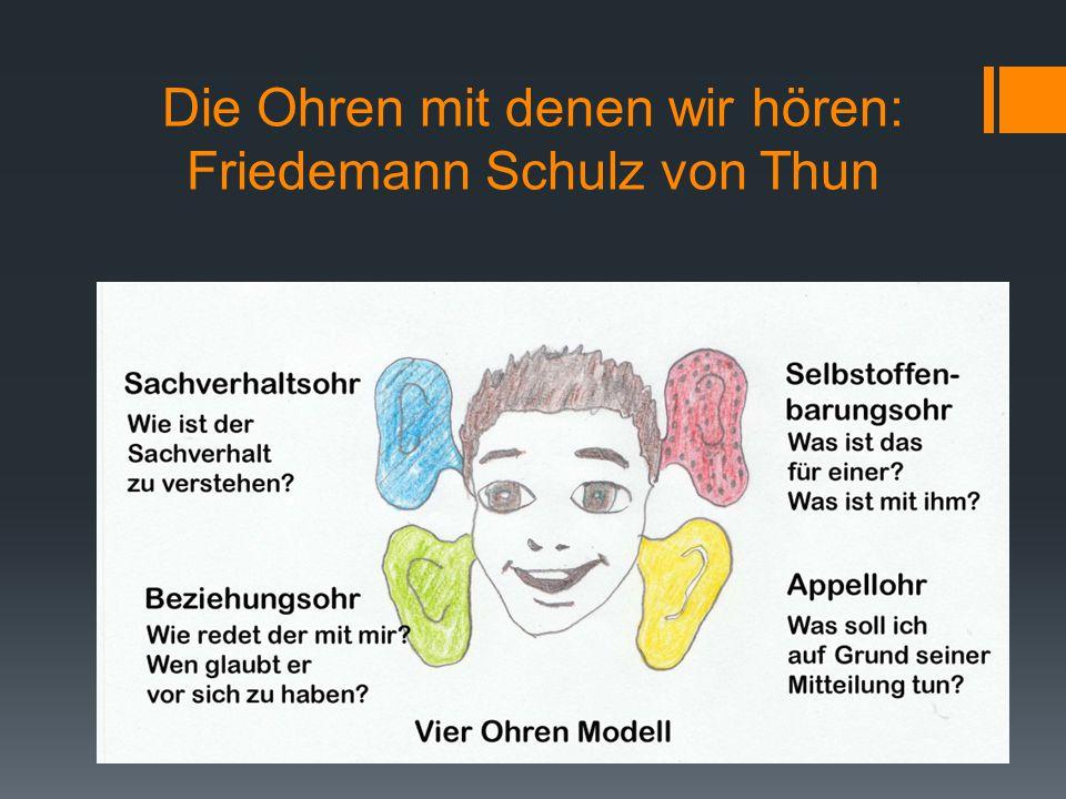 Die Ohren mit denen wir hören: Friedemann Schulz von Thun