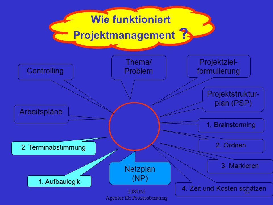LISUM Agentur für Prozessberatung 22 Wie funktioniert Projektmanagement .
