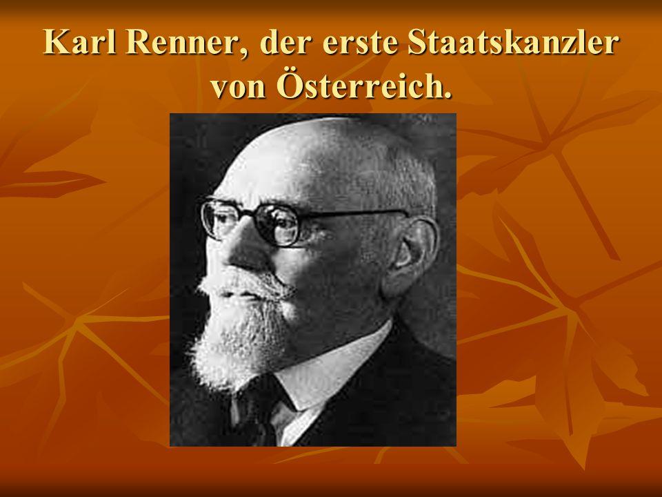 Karl Renner, der erste Staatskanzler von Österreich.