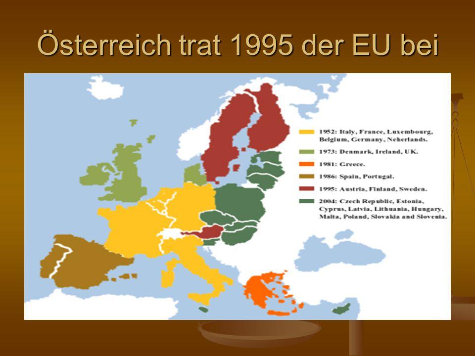 Österreich trat 1995 der EU bei