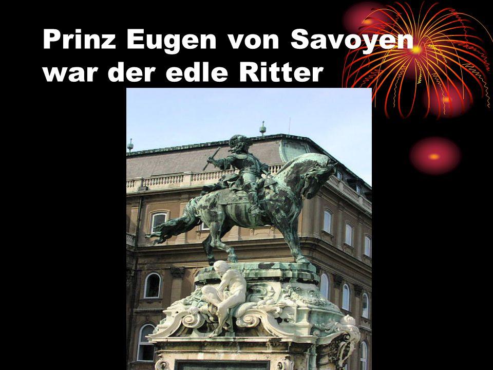Prinz Eugen von Savoyen war der edle Ritter