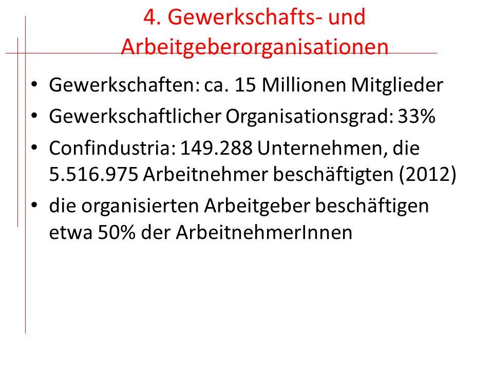 Beschäftigungssicherung Beschäftigungsfähigkeit; Weiterbildung Solidaritätsverträge Wertschöpfungskette CGIL: piano del lavoro (Industrie-, Wirtschafts- und Steuerpolitik)
