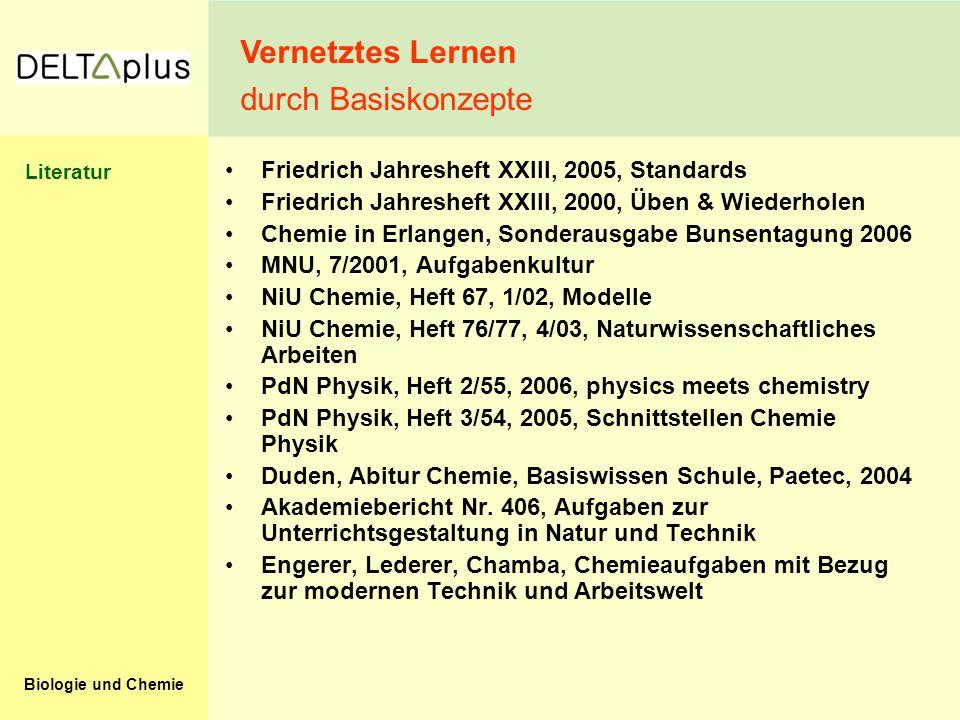 Biologie und Chemie Friedrich Jahresheft XXIII, 2005, Standards Friedrich Jahresheft XXIII, 2000, Üben & Wiederholen Chemie in Erlangen, Sonderausgabe