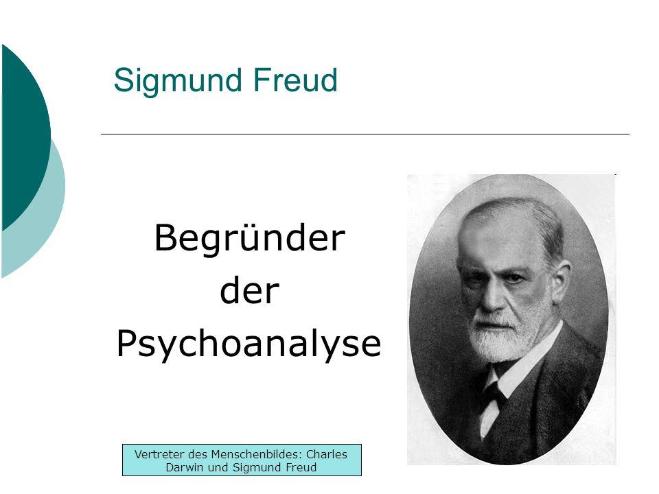 Inhaltsverzeichnis -Lebenslauf -Werke -Denken Inhaltsverzeichnis -Lebenslauf -Werke -Denken Vertreter des Menschenbildes: Charles Darwin und Sigmund Freud Sigmund Freud Begründer der Psychoanalyse
