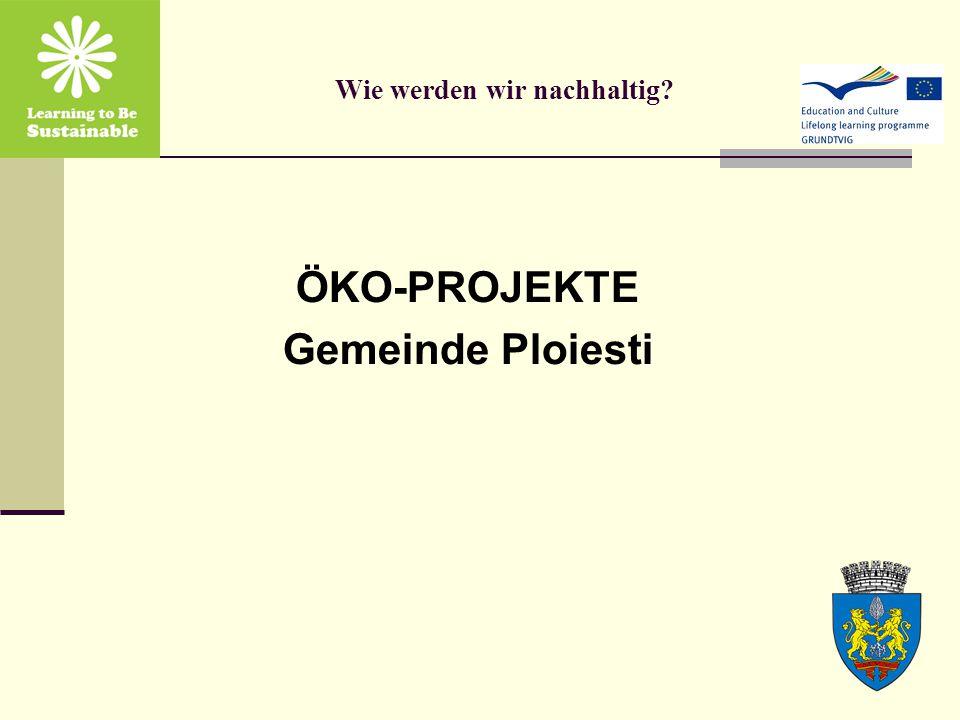 Wie werden wir nachhaltig ÖKO-PROJEKTE Gemeinde Ploiesti
