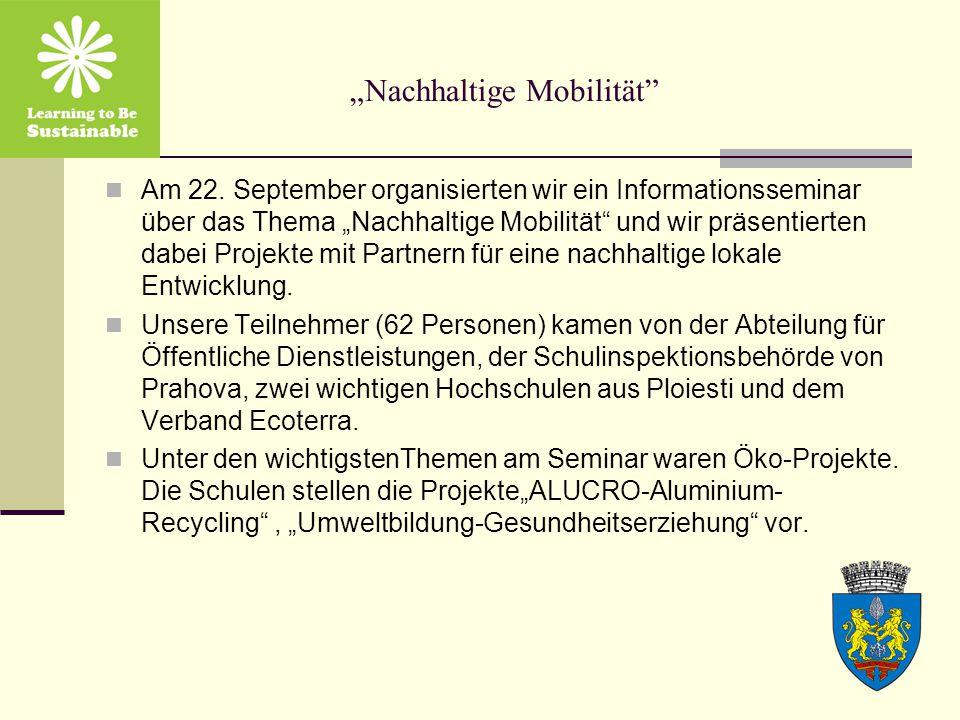 """""""Nachhaltige Mobilität Am 22."""