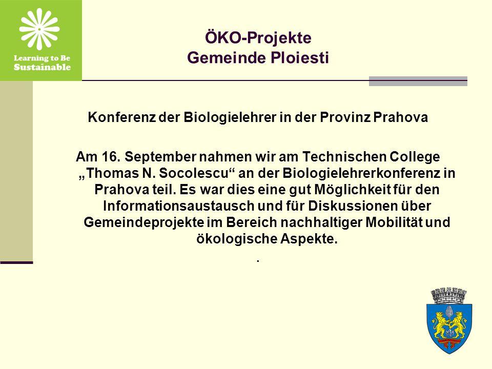 Konferenz der Biologielehrer in der Provinz Prahova Am 16.