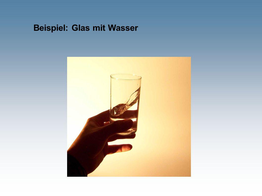 Beispiel: Glas mit Wasser
