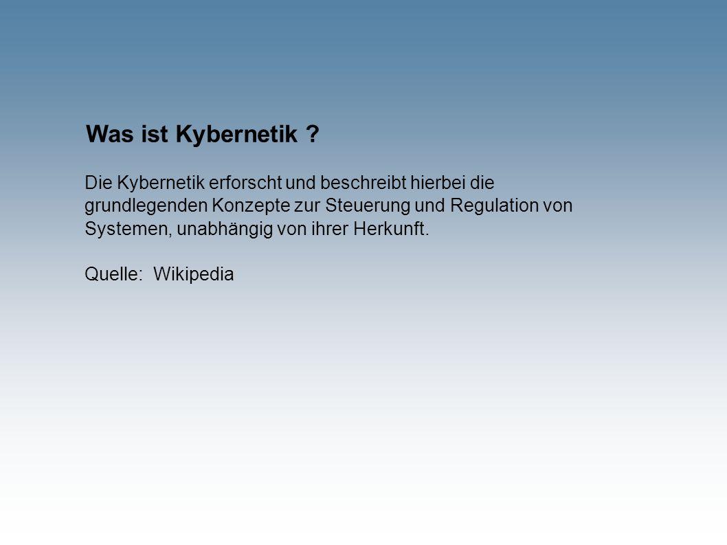 Was ist Kybernetik .