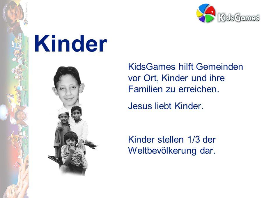 Kinder KidsGames hilft Gemeinden vor Ort, Kinder und ihre Familien zu erreichen.