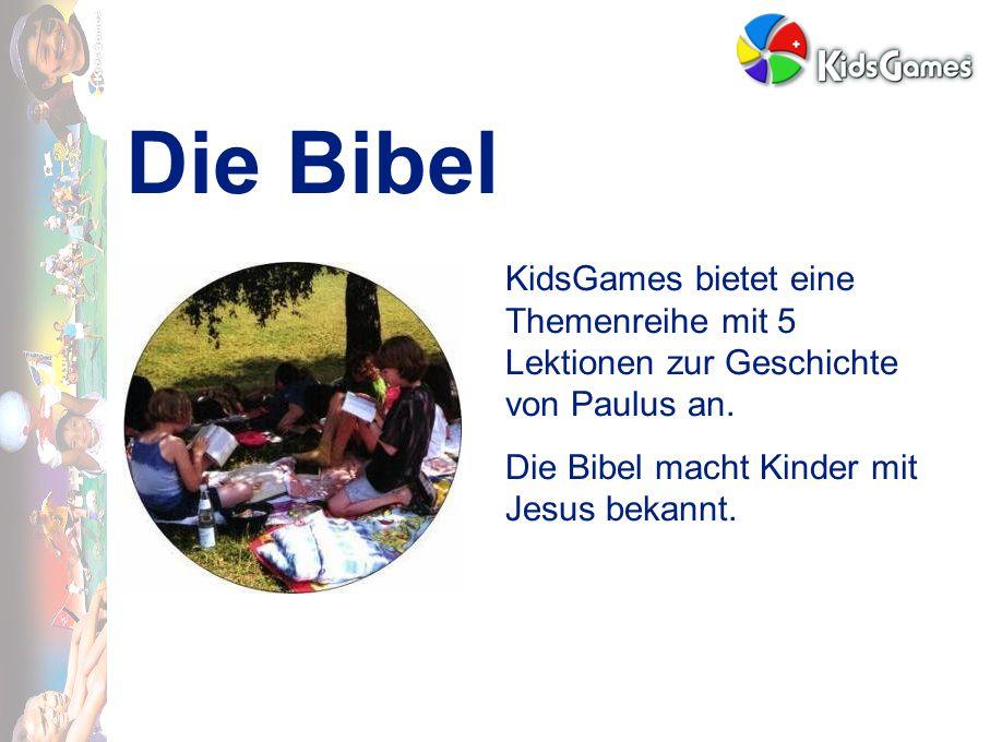 Die Bibel KidsGames bietet eine Themenreihe mit 5 Lektionen zur Geschichte von Paulus an.