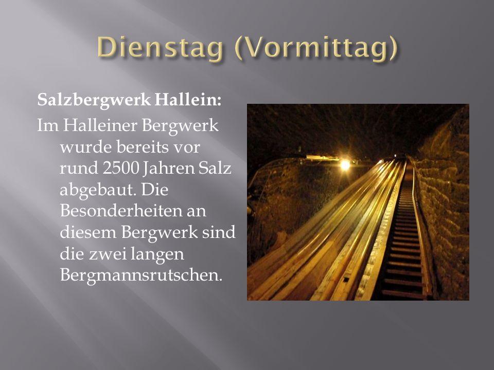 Salzbergwerk Hallein: Im Halleiner Bergwerk wurde bereits vor rund 2500 Jahren Salz abgebaut.