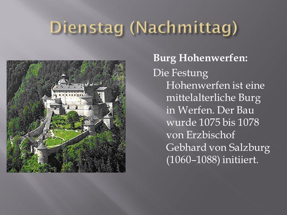 Burg Hohenwerfen: Die Festung Hohenwerfen ist eine mittelalterliche Burg in Werfen.