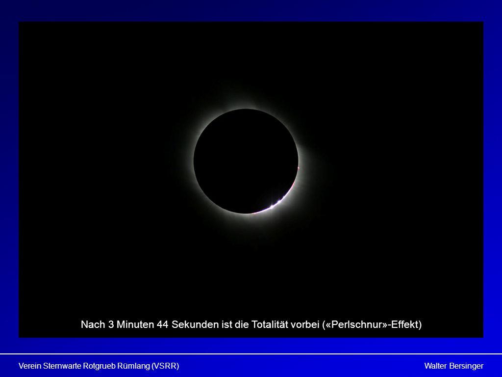 Walter BersingerVerein Sternwarte Rotgrueb Rümlang (VSRR) Nach 3 Minuten 44 Sekunden ist die Totalität vorbei («Perlschnur»-Effekt)