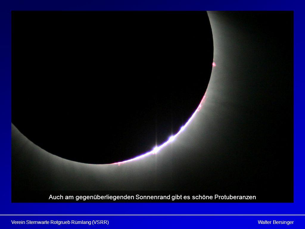 Walter BersingerVerein Sternwarte Rotgrueb Rümlang (VSRR) Auch am gegenüberliegenden Sonnenrand gibt es schöne Protuberanzen