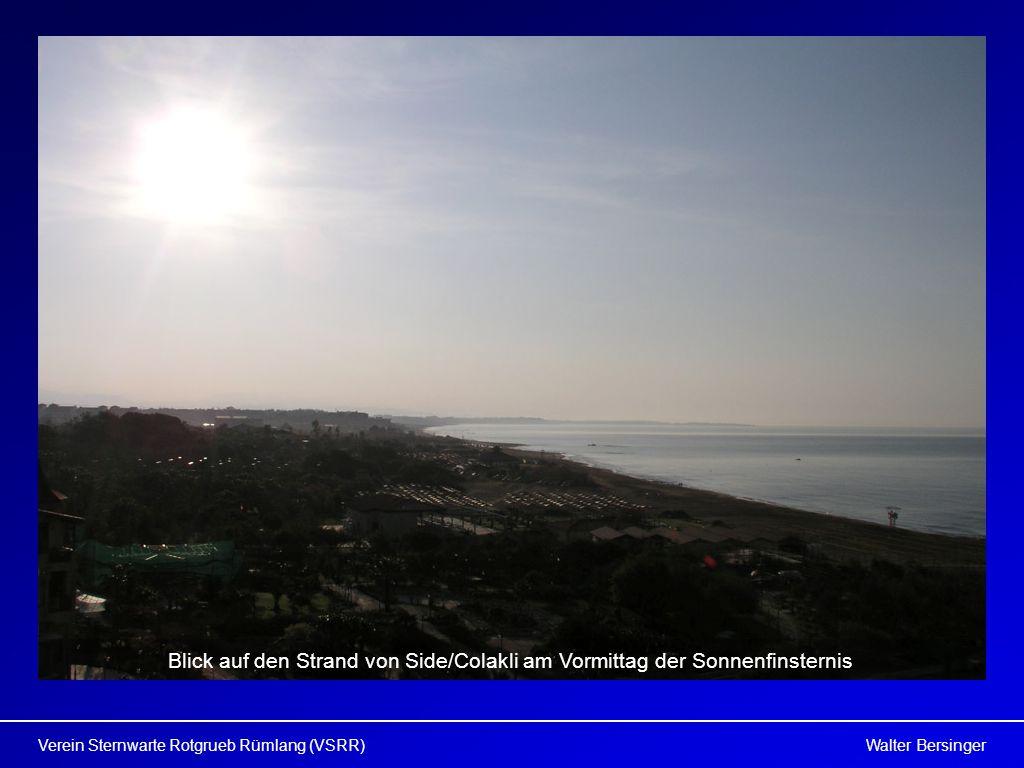 Walter BersingerVerein Sternwarte Rotgrueb Rümlang (VSRR) Blick auf den Strand von Side/Colakli am Vormittag der Sonnenfinsternis