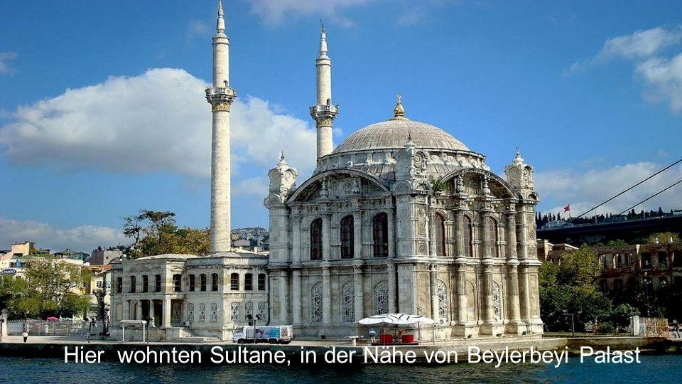 Vor der Brücke, ist die Büyük Mecidiye Moschee im Stadtteil Ortaköy.