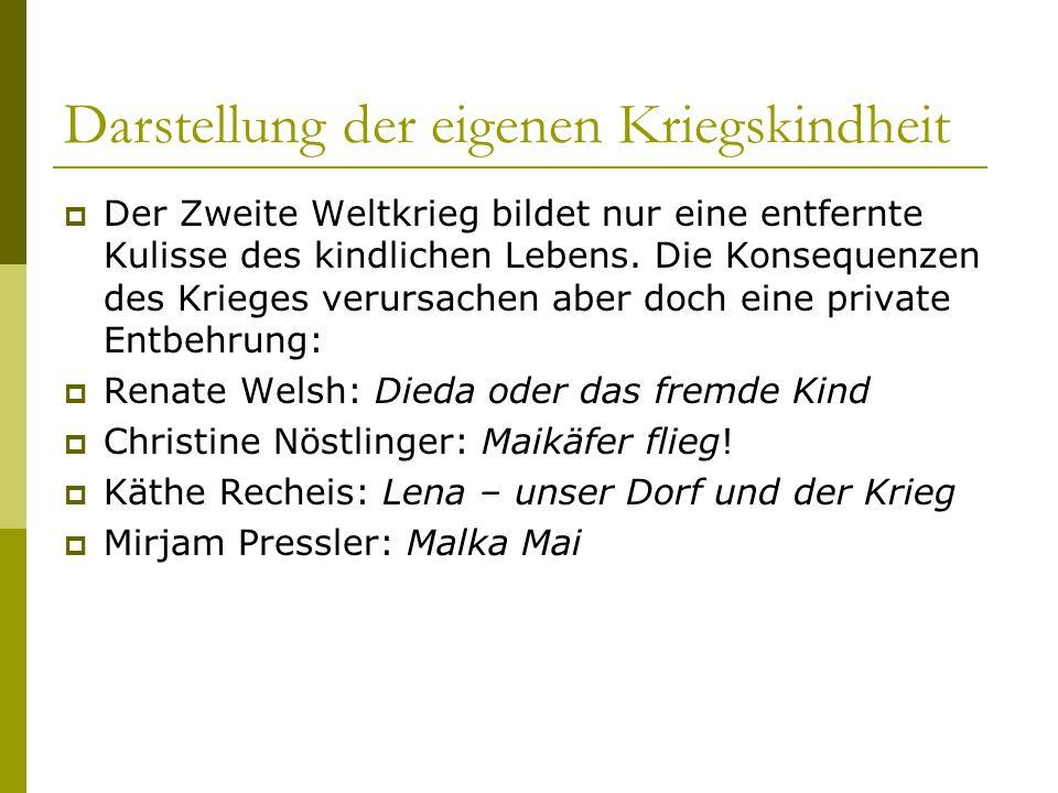 """Konferenz zur Kriegs- und Nachkriegskindheit  Universität in Frankfurt am Main, 2005: Konferenz zum Thema """"Kriegs- und Nachkriegskindheit und –jugend in der Kinder- und Jugendliteratur , veranstaltet vom Institut für Jugendbuchforschung der J.W."""