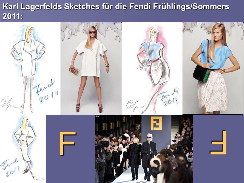 Karl Lagerfelds Sketches für die Fendi Frühlings/Sommers 2011: F F
