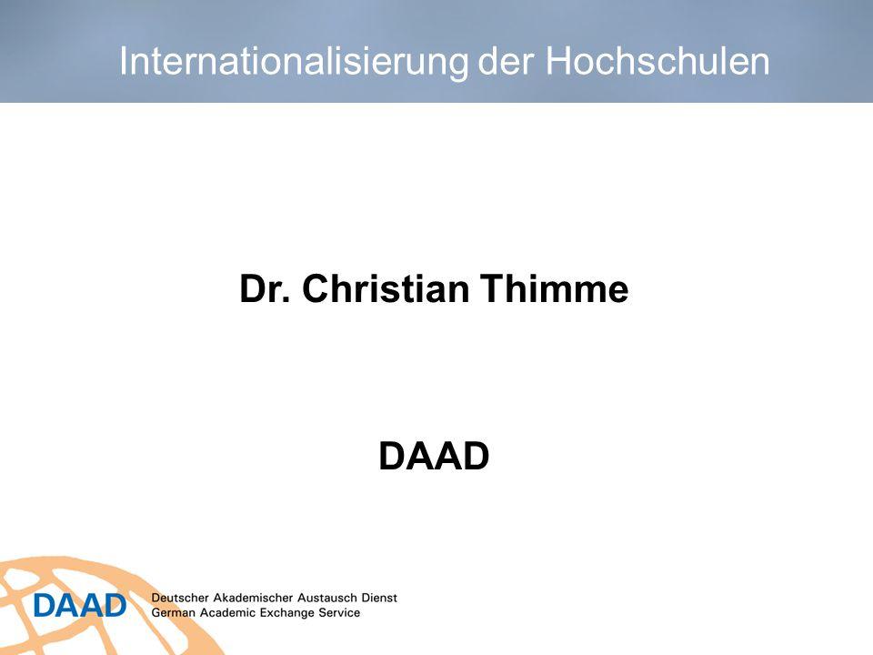 Dr. Christian Thimme DAAD Internationalisierung der Hochschulen