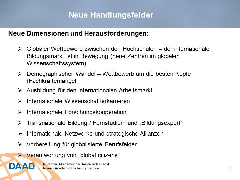 14 DAAD-Strategie 2020: Weltoffene Strukturen Der DAAD möchte dazu beitragen, dass:  Deutschland seinen Platz in der Gruppe der 5 beliebtesten Gastländer behauptet.
