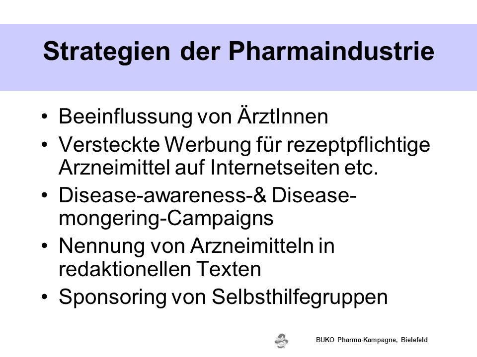 www.valette.de BUKO Pharma-Kampagne, Bielefeld Strategien der Pharmaindustrie Beeinflussung von ÄrztInnen Versteckte Werbung für rezeptpflichtige Arzn