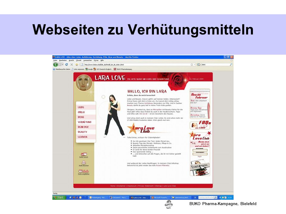 www.valette.de BUKO Pharma-Kampagne, Bielefeld Webseiten zu Verhütungsmitteln