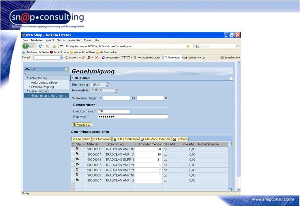SAP Javatechnologie verbindet Aufgabenstellung Eine bestehendes Intranetportal (Basis Gentics Contentnode) für tausende Benutzer in ein SAP Portal zu integrieren.