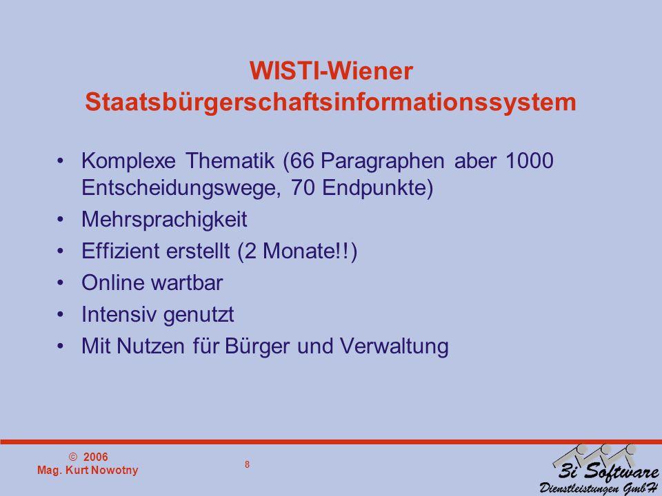 © 2006 Mag. Kurt Nowotny 9 Verleihung der Staatsbürgerschaft in Wien