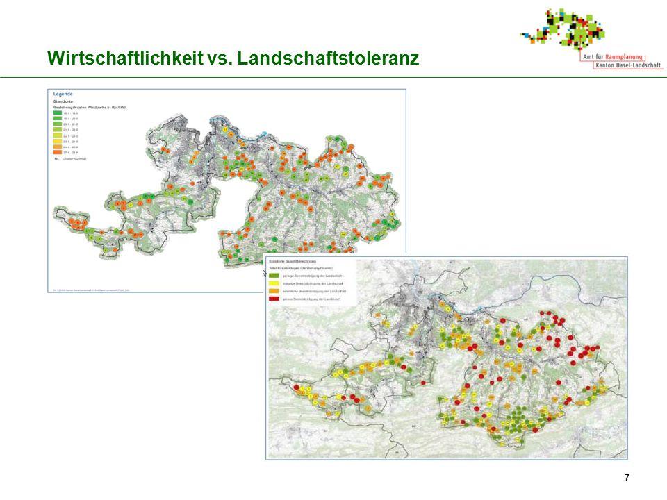 7 Wirtschaftlichkeit vs. Landschaftstoleranz